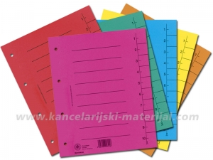 O+CO pregradni kartoni 250gr, A4 1/100