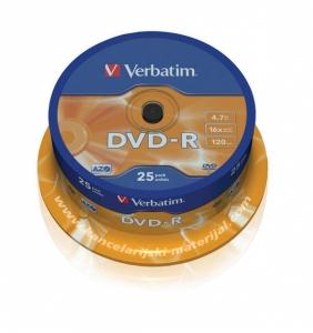 VERBATIM DVD-R 4.7GB spindle 1/25