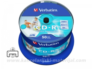 VERBATIM CD-R PRINTABLE 1/50 spindle