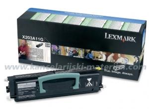 LEXMARK toner X203A11G BLACK