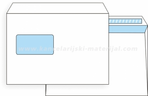 PIGNA EDERA STRIP C5 koverta LEVI PROZOR 162x229 90g (23150L) otvaranje na dužoj strani