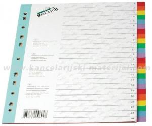 REDOLJUB pregradni karton u boji 1/24 4x6 boja
