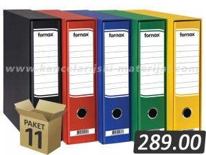 11 širokih registratora FORNAX sa kutijom A4 D80