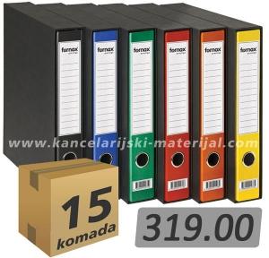 15 uskih registratora FORNAX PRESTIGE A4 D60 sa kutijom