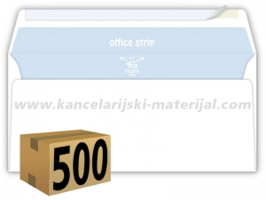 500 koverata PIGNA OFFICE STRIP ameriken BEZ PROZORA 110x230mm 80g (23200)