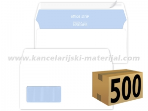 500 koverata PIGNA OFFICE STRIP ameriken LEVI PROZOR 110x230mm 80g (23201)