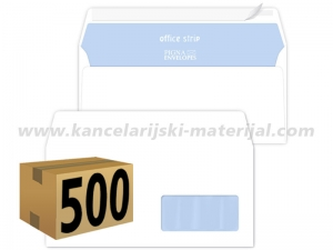 500 koverata PIGNA OFFICE STRIP ameriken DESNI PROZOR 110x230mm 80g (23202)