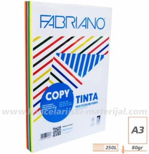 FABRIANO A3 80g Copy Tinta Multicolor papir u boji INTENZIVNI 1/250 mix (62629742)