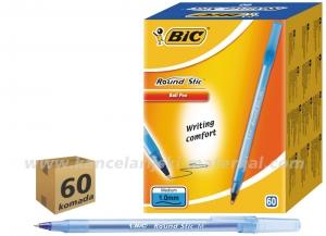 60 BIC jednokratnih hemijskih olovka ROUND STIC