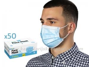 PLAVA jednokratna zaštitna maska - pakovanje 50 komada