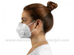 5 BELIH višekratnih zaštitnih maski KN95 VENT sa ventilom (N95/KN95/FFP2) PM 2.5