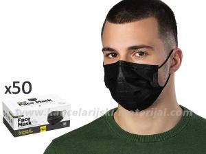 CRNA jednokratna zaštitna maska - pakovanje 50 komada