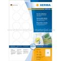 Herma etikete Superprint Ø40 mm A4/24 1/100 bela