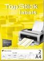 TOPSTICK nalepnice za CD/DVD Ø117mm A4/2 100L
