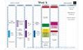 EXACOMPTA nedeljna planer tabla 90x59cm od impregniranog kartona