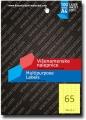 TEKMOS univerzalna nalepnica 38x21.2mm A4/65 100L ŽUTA