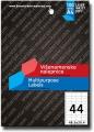 TEKMOS univerzalna nalepnica 48.3x25.4mm A4/44 100L