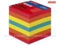 HERLITZ lajmovana papirna kocka za beleške 9x9cm MIX boje (801078)