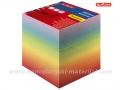 HERLITZ lajmovana papirna kocka za beleške 9x9cm RAINBOW (506089)