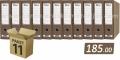 11 registratora FORNAX ForTen NATUR široki sa kutijom A4