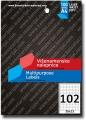 TEKMOS univerzalna nalepnica 30x15mm A4/102 100L