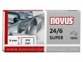 NOVUS klamerice 24/6 SUPER za 30 listova