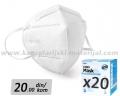 20 BELIH višekratnih zaštitnih maski PRO SAFE PLUS (N95/KN95/FFP2) PM 2.5