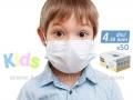 BELA DEČIJA jednokratna zaštitna maska DFM KIDS - pakovanje 50 komada