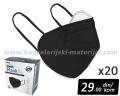 20 CRNIH višekratnih zaštitnih maski PRO SAFE PLUS (N95/KN95/FFP2) PM 2.5
