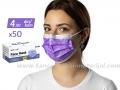 LJUBIČASTA jednokratna zaštitna maska - pakovanje 50 komada